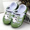 2016 New Summer Kids Sandals Slip Children's Cartoon Slippers Boy Beach Shoes Breathable Girl Bathroom Slippers Home Size 24-35