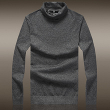 2016 Promotion Top England Style Wool Acrylic Nylon Turtleneck Men's Soft Satin High Collar Sweater Men Hedging Slim Thin Knit