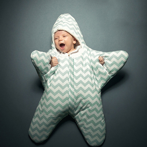 Image 1 - RP 057 2020 ホット販売ベビー寝袋ベビー寝袋ヒトデ冬新生児ベビーカーベッドおくるみブランケットラップ漫画寝具