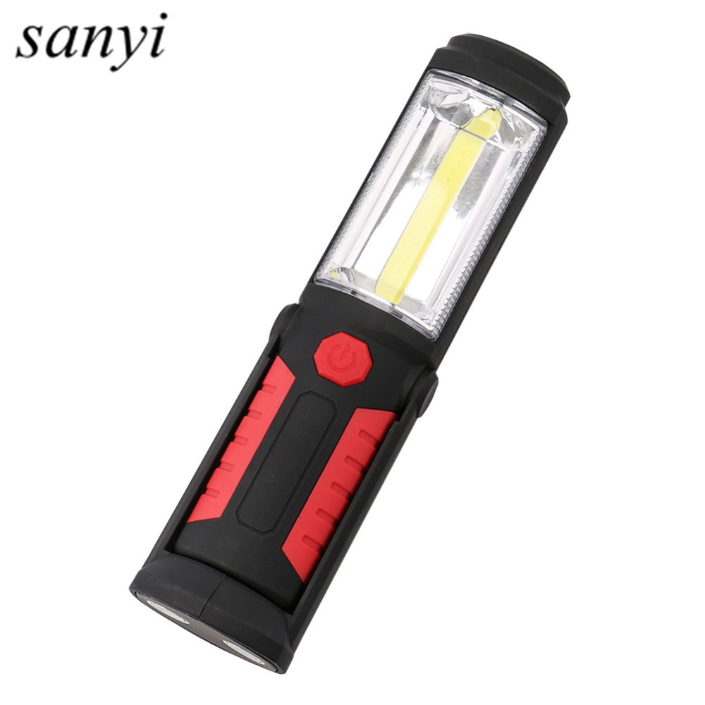 2 Modes COB LED Outdoor Camping Light Magnet Hanging Hook Lamp Emergency Torch Light Waterproof LED Work Hand Lamp By AA Battery