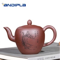 270ml Authentic Yixing Purple Clay Health Raw Ore Zi Mud Zisha Pot for Home Drinkware Vintage Beauty Pattern Puer Tea Kettles
