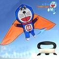 Frete grátis de alta qualidade crianças pipas doraemon gato máquina com 100 m linha de controle fácil hcxkite de neve pipa hot