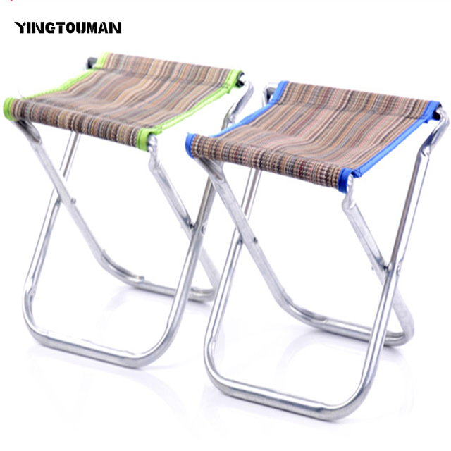 YINGTOUMAN 2pcs/lot BBQ Seat Outdoor Folding Chairs Multifunction Foldable  Camping Chair Sketch Stool Chair