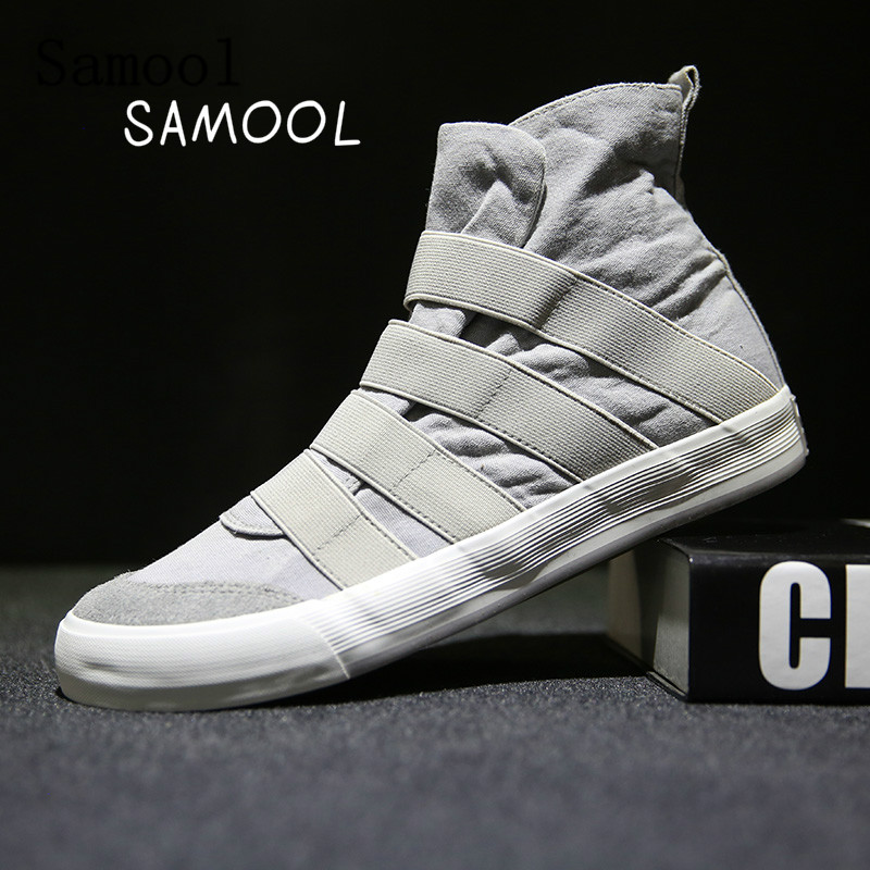 Male 2017 Casual Shoes Fast Shipping High Top Sneakers Slip On Canvas shoes Casual Shoes Lightweight Masculino Esportivo