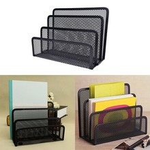 Black Metal Mesh Right hand file box file box file holder right hand file bar box data rack(China)