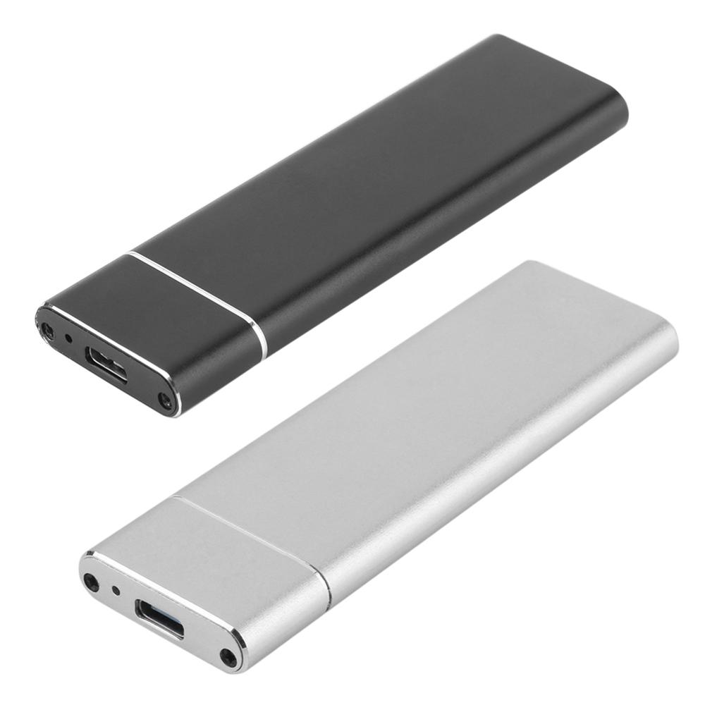 1pcs M.2 NGFF To USB-C Hard Drive Disk External Enclosure Case Mobile Card Adapter Box With Type C To Type C/USB3.0 Cable