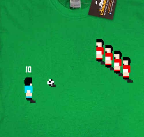 معقولة لكرة القدم الرجعية مستوحاة لعبة تي شيرت 90's أميغا الكلاسيكية الألعاب سينسي جديد شحن مجاني للجنسين عارضة هدية