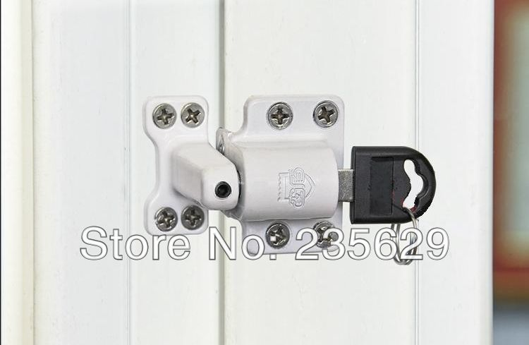 Free Shipping, Safe lock For Aluminum casement Window, Zinc alloy Material, Child Safety Lock for the Aluminum hinged window цена