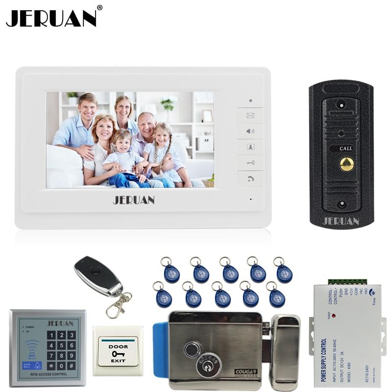 Jeruan 7 Video Door Phone Intercom System Kit 1 Monitor