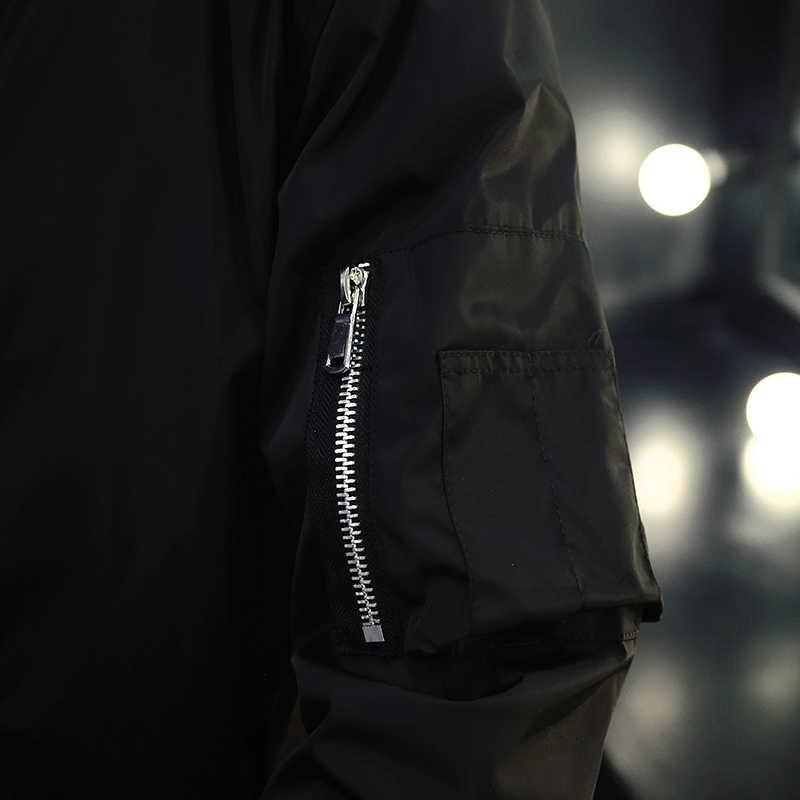 メンズジャケットとコート春秋爆撃機ジャケット男性野球ジャケットヒップホップウインドブレーカー生き抜く男性プラスサイズ 4XL 、 ZA237