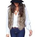 Mulheres inverno da Pele Do Falso Colete Jaqueta Colete Casaco Sem Mangas Outwear Curto Colete de Alta Qualidade