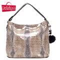 BVLRIGA Mulheres messenger bags bolsas mulheres marcas de sacos de ombro 2017 serpentina saco de couro genuíno de estilo Europeu e Americano