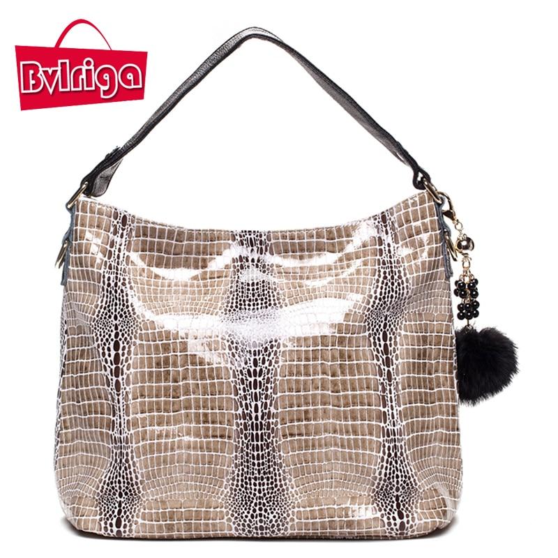 BVLRIGA Women messenger bags handbags women brands shoulder bags 2017 European and American style serpentine genuine leather bag