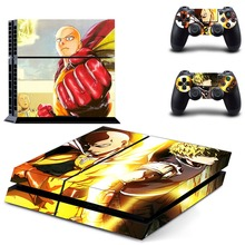 Anime One Punch Man PS4 Skin Sticker Decal Vinyl For Sony PS4 PlayStation 4 Console and 2 Controllers PS4 Skin Sticker