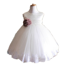 BBWOWLIN White Baby Clothes Girls Dress for Wedding1 Year Birthday Christening Gowns for New Born 10T