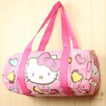 Купить с кэшбэком Cartoon Hello Kitty Melody Doraemon Handbags Women Travel Bags Girls Shoulder Bag Big Capacity Travel Bag for Travelling Tote