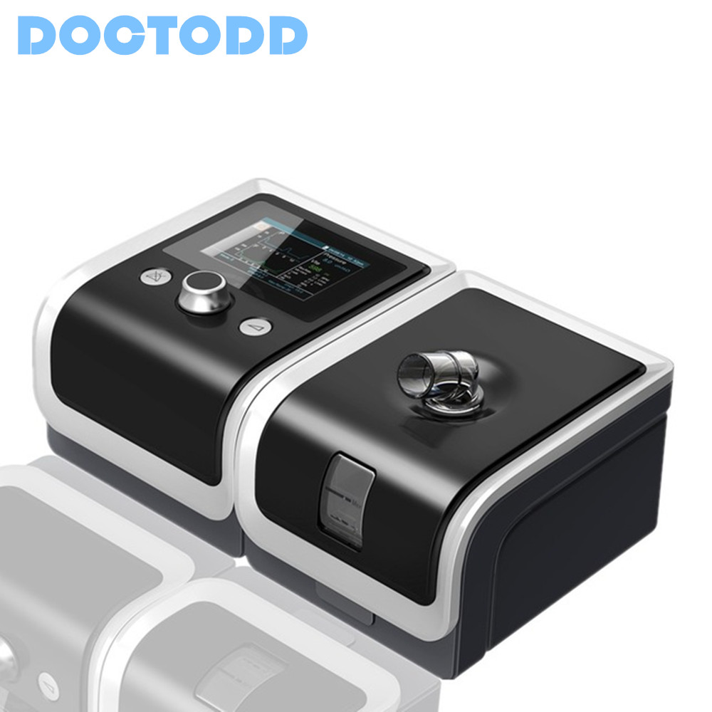 Doctodd T-25A GII BPAP With Auto Mode BMC Bilevel CPAP Machine For Patient's OSA COPD Therapy Medical Clinic Deviced bmc gii bpap t 25t electric breathing machine with blood pressure oximeter health therpay mask size s m l heated humidifier