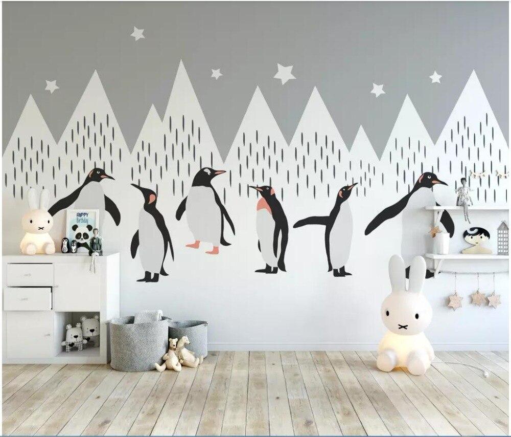 3d Wallpaper Custom Photo Mural Cartoon Snow Mountain