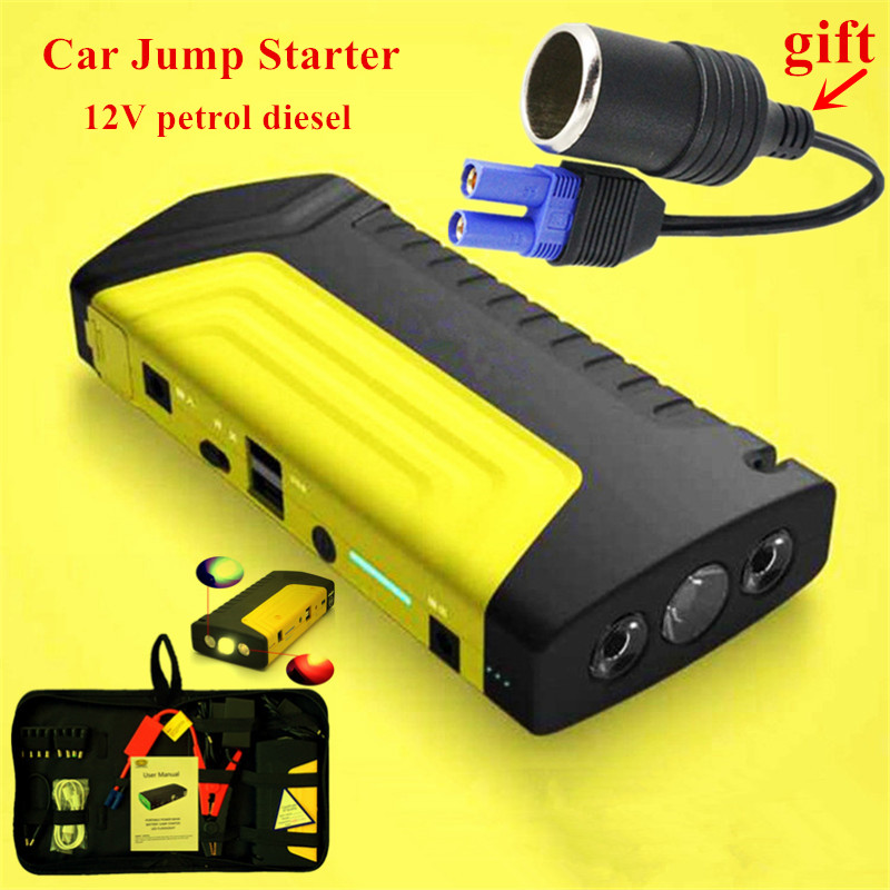 2017 Multi-function Starting Device 12V Car Jump Starter Portable Power Bank Charger  Car Battery Booster Buster Petrol Diesel high quality 12v universal car charger 50800mah multi function car jump starter power bank rechargable battery