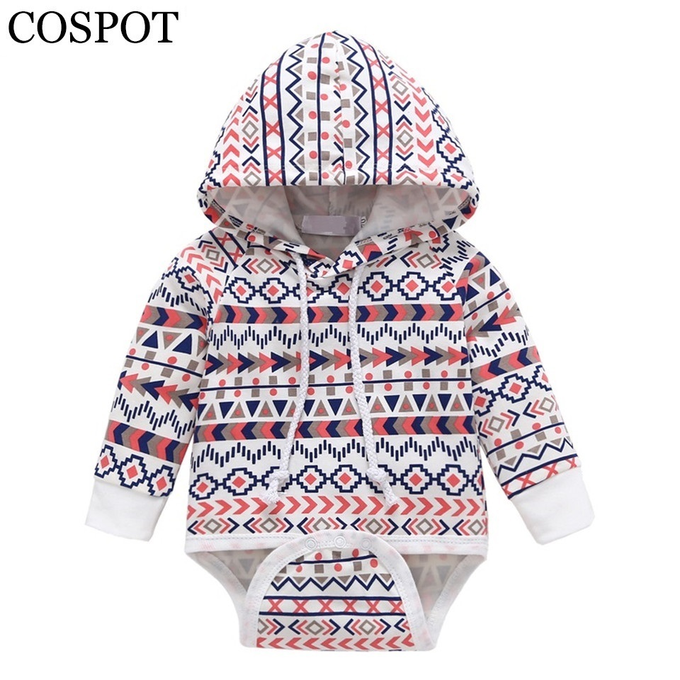 COSPOT 2018 New Baby Girls Hooded Bodysuit Spring & Summer Long Sleeved for Newborns Toddler Infant Clothes Jumper Jumpsuit 50F