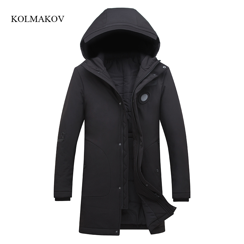New arrival winter style men boutique down coats high quality fashion slim hooded coat mens solid thick dress coat size M-4XL