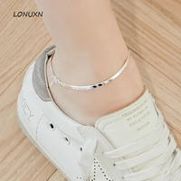 22cm+3cm 925 Sterling Silver Anklet 2017 Hot 1 PC Hot Girls pure Handmade simple Women Korean fashion Beach Foot Jewelry Fashion