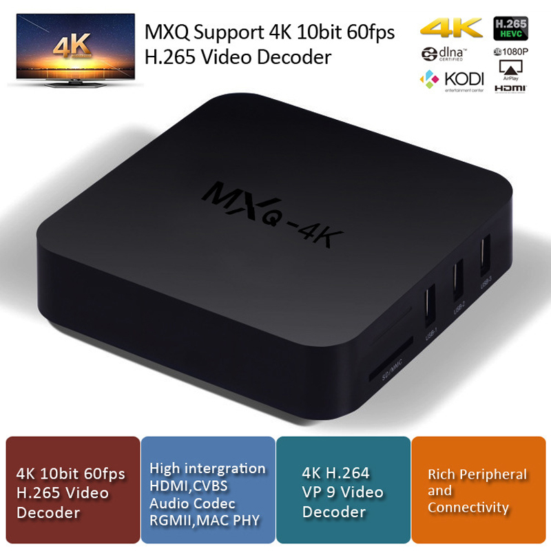 MXQ 4k 10 bit 60FPS H.265 RK3229 Quad-core Smart Android TV Box 1GB 8GB HD 1080P 4K*2K 2.4G Wifi Streaming Kodi Iptv set topBox mini dlp projector android 4 4 smart tv box 1gb 8gb kodi xbmc 2 4g