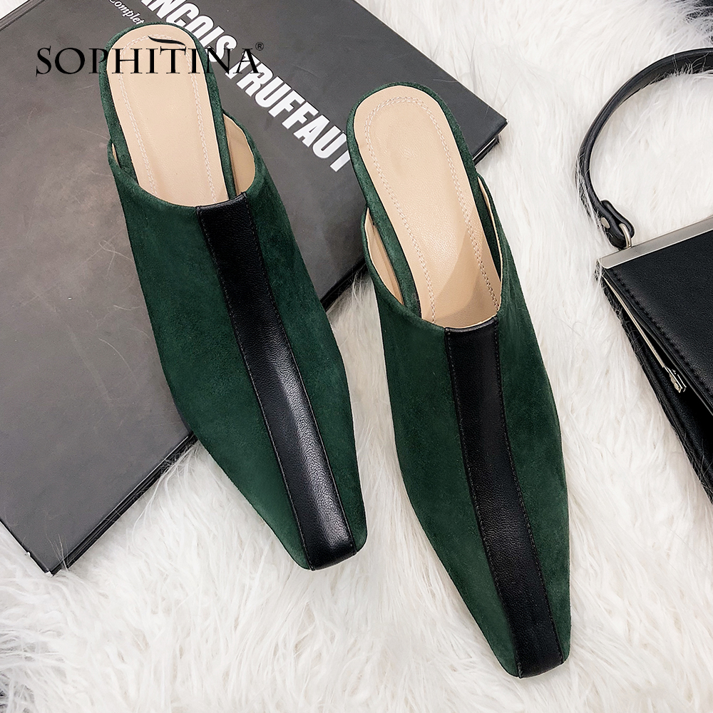 Des Chaussures Main Nouvelles Daim À Slip Sophitina New Plates So92 Pompes Mode Enfant Mules Beige Confortable Décontracté green Femmes on La 2019 Printemps F1JlcTK