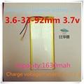 363392 1630 mAH 3.7; batería de iones de litio Polímero/Li-ion/modelo separado para la pistola de luz, sistema de posicionamiento global (GPS), airpl
