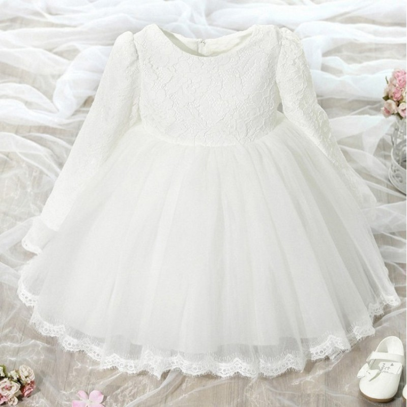 New Kids Lace Tulle Dress For Girls  Wedding and Party Summer Spring Long Sleeve Princess Dresses Flower Girls2-9Years Vestidos big fashion women messenger bags soft pu black leather handbags crossbody bag for women girl summer clutches envelope small bag