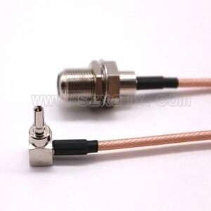 Image 3 - Jx rus estoque 100 peças f para crc9 cabo f fêmea para crc9 ângulo direito rg316/rg174 trança cabo 10 60cm para huawei 3g/4g usb modem