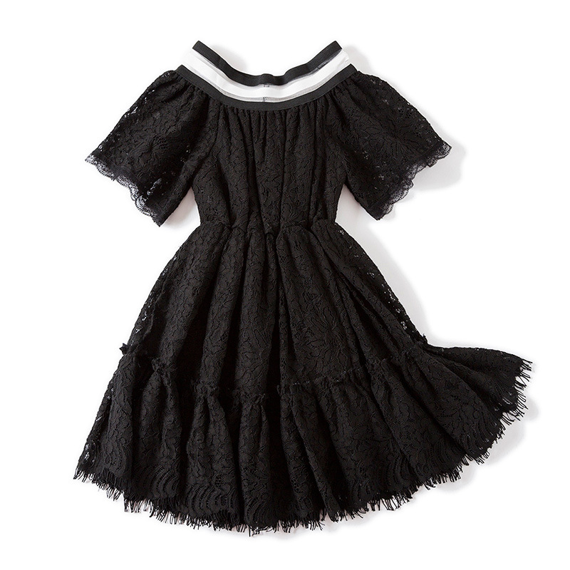 2018 Summer New Lace Vest Girl Dress Baby Girl Princess Dress 3-7 Age Children Clothes Kids Party Costume Ball Gown 2017 new summer children girl long sleeve lace dress kids clothes cotton child party princess tank girl dress sundress age 2 10y