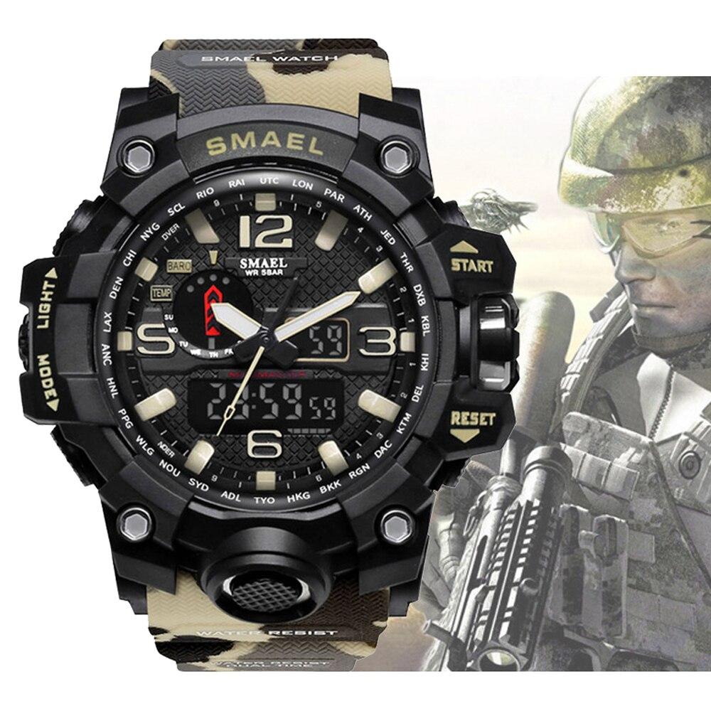 Digitale Uhren 2019 Top Luxus Marke Herren Sport Uhren Dive 50 M Digital Led Military Uhr Männer Casual Elektronik Armbanduhren Uhren Uhren
