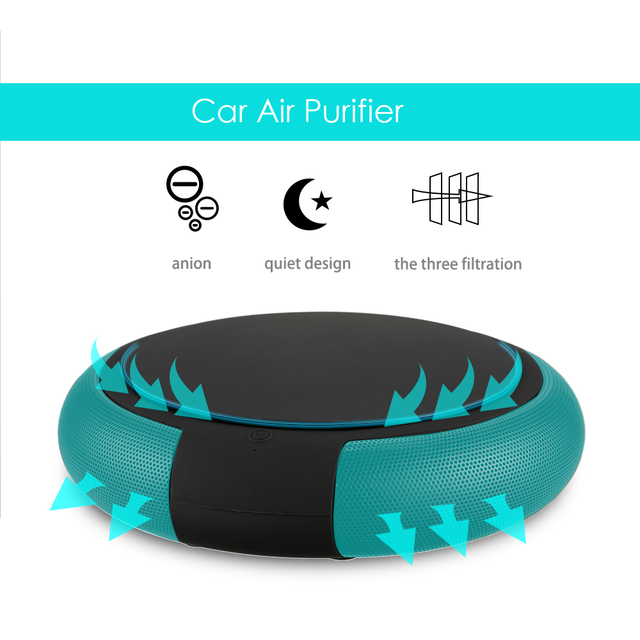 Car Air Purifier With Filter Portable Travel Usb Cleaner