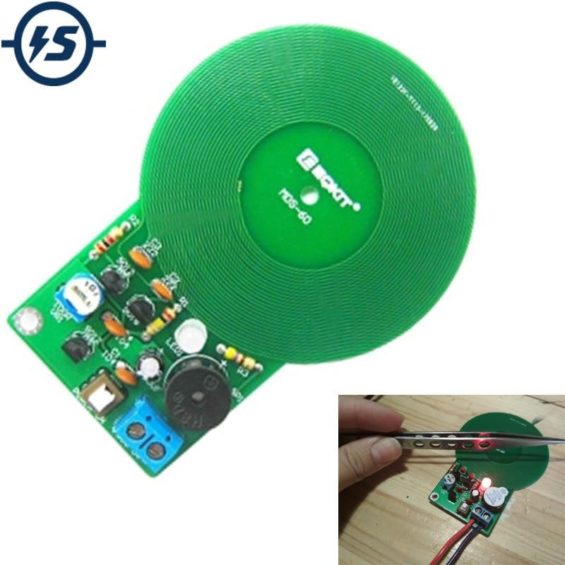 IS DIY Kit Metal Detector Kit Electronic Kit DC 3V-5V 60mm Non-contact Sensor Board Module DIY Electronic Part Metal Detector
