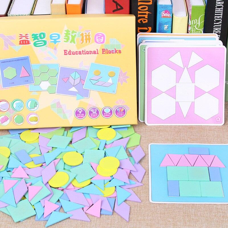 190 pièces/ensemble bébé en bois créatif enfants Puzzle jouets colorés début d'apprentissage jouets éducatifs pour les enfants