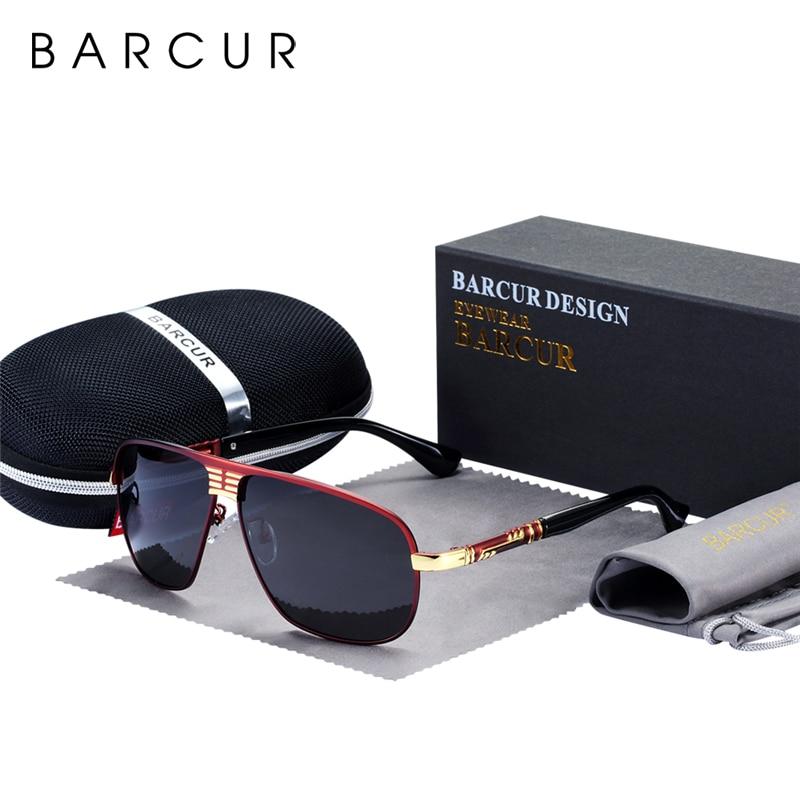 Солнцезащитные очки BARCUR Мужские поляризационные солнцезащитные очки мужские водительские очки Защита глаз солнцезащитные очки с аксессуа...