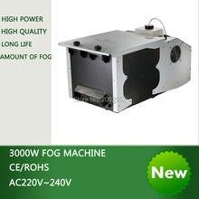 High quality 3000W Continuous fog machine pump disco DMX remote control Low Lying Ground smoke machine stage Lampblack machine