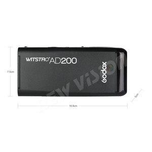Image 3 - GODOX AD200 200Ws TTL 2.4G HSS 1/8000s Tasca Luce del Flash Esterno A Doppia Testa con 2900mAh batteria al litio Torcia Elettrica Flash