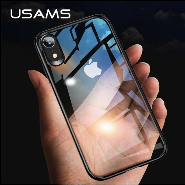 new concept 0cc4c 81445 US $6.57 31% OFF|Aliexpress.com : Buy USAMS Mint Series case For iPhone XR  / Xs / For iPhone Xs Max Dual Protection TPU Frame + Clear PC Back Phone ...
