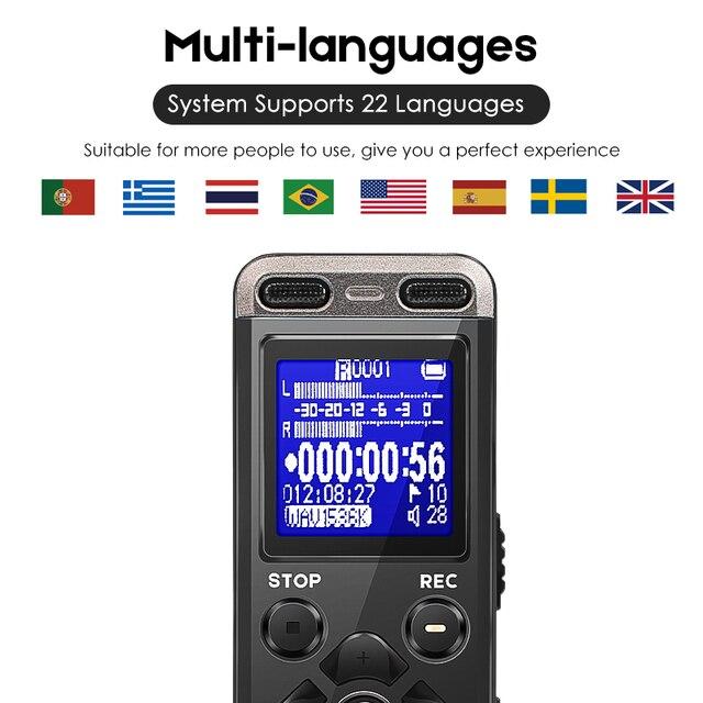 Professional Portable Digital Voice Recorder MP3 Recording Pen 8GB MINI Telephone Dictaphone WAV MP3 Hidden With Built-in Mic