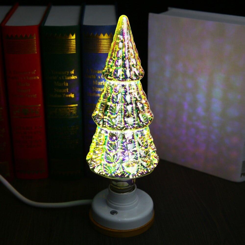 OSIDEN Edison creative light bulb E27 3D stereo seven color fireworks light decoration 85-265V 60A ST64 G80 G95 G125 art light