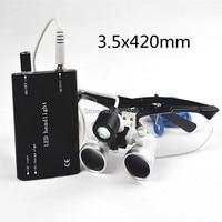 2015 Czarny SY-06 Nowy 3.5x420 Dental Lab Chirurgiczne Lup Okulary + LED Head Light Lampa Sprzedaży Bezpośredniej AAA +