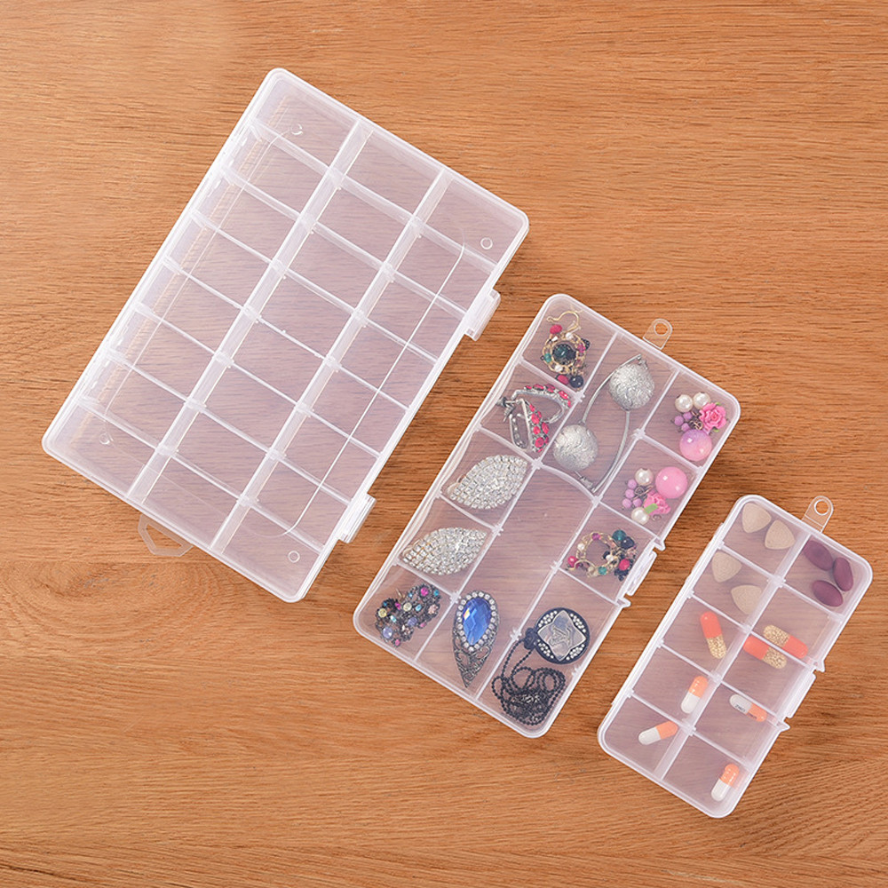 New 10/15/24 Grids Detachable Storage Container Sundries Organizer Jewlry Box Case Organizador for Rhinestone Gems Jewlrys