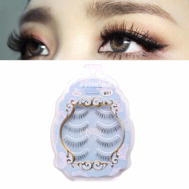 Aliexpress Buy 4 Pairs Beauty Long Cross False Eyelashes