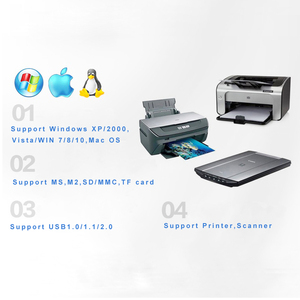 Image 4 - Twobro USB Hub 2,0 3 Ports TF Micro SD Kartenleser Slot USB Combo Multi Alle In Einem USB Splitter kabel Für Laptop Macbook