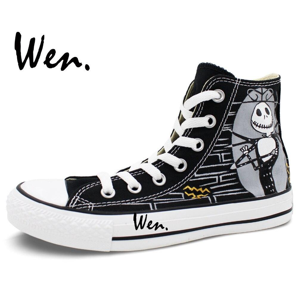 Wen Design Custom Hand Painted Shoes Nightmare Before Christmas Man ...