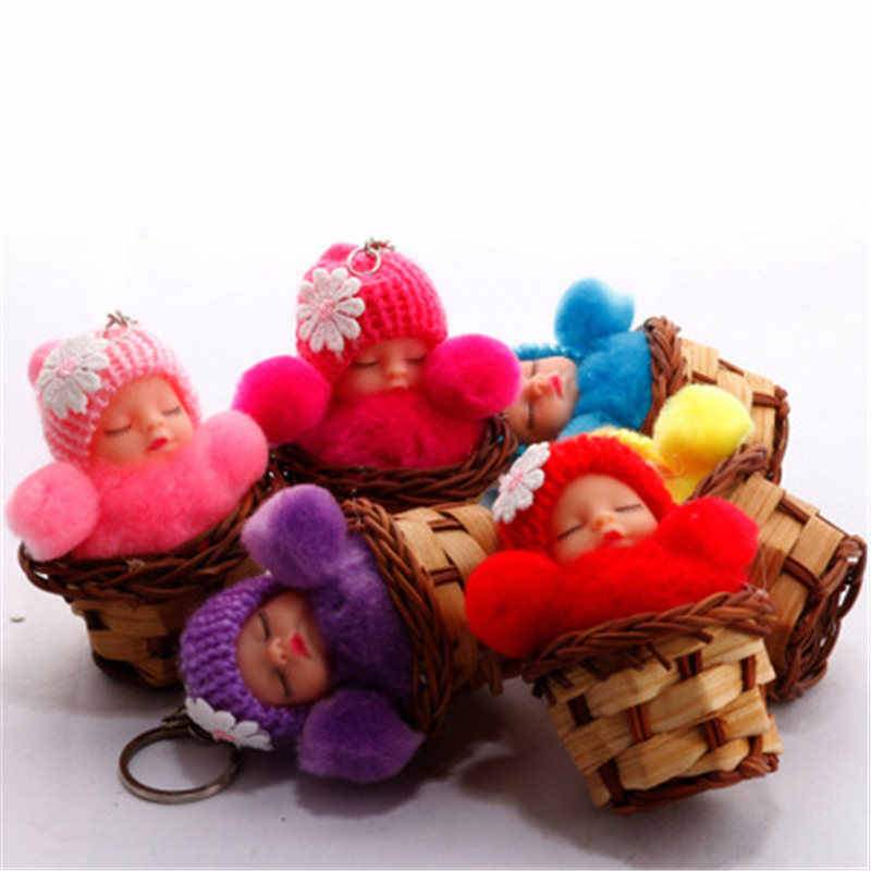 HziriP 2018 мягкая машинка для волос креативная Колыбель Кукла-брелок для ключей Детская плюшевая милая сумка игрушка-брелок кукла унисекс кукла с пустышкой