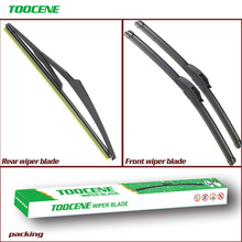 цена на Front And Rear Wiper Blades For Dacia Logan 2013-2016 Rubber Windscreen Windshield Wipers Auto Car Accessories 22+22+12