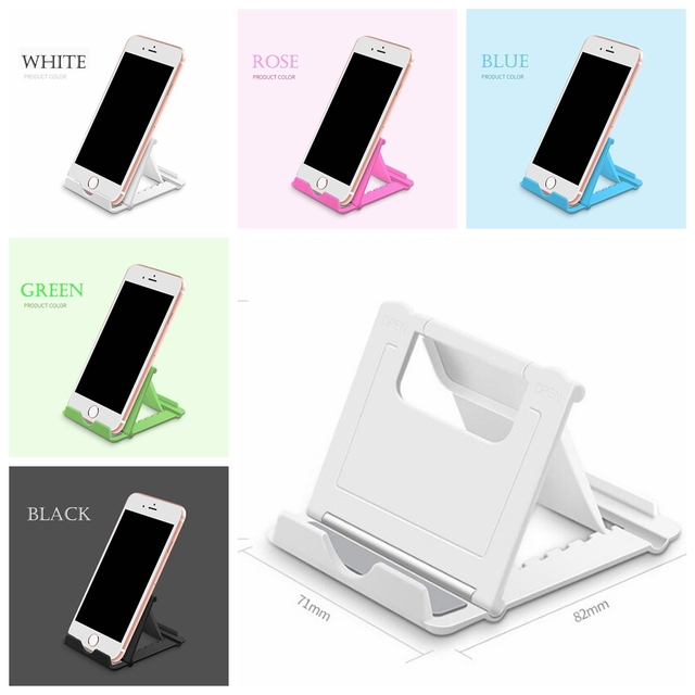Universal Mobile Phone Holder Stand Foldable Holder Desk Tablet Stand Cell Phone Holder Plastic Smartphone Tablet stand holder